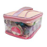 N A PURSE Women vanity box Cosmetic case for girls Ladies toiletry bag one compartment (PINK)
