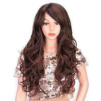 Rapidsflow Full Head Synthetic Women Wigs Long Hair For Women/Women Wigs Natural Hair (Curly Burgundy Highlights)