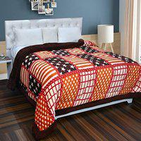 Home Solution Flannel Super Soft Blanket Double Bed for Winter Quilts (90 X 100 Inch, Stars-Multi)