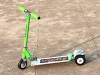 NIYAMAT Skate Scooter for Kids with 3 Wheels and 3 Position Adjustable Height (Green)