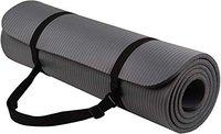 SIGNATRON 20mm Extra Thick Non Slip Yoga and Exercise Mat with Shoulder Strap, High Density Yoga mats for Home, Gym & Outdoor Workout (Made in India) (Grey)