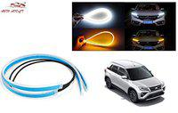 Auto Addict Headlight LED DRL Daytime Running Lights Silicone Light Strip with White Yellow Turn Signal, Decorative lamp for Headlight for MG Gloster