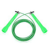 Spinway Adjustable Steel Cable Skipping Speed Jump Rope for Excercise (Green)