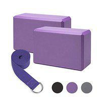 Serveuttam Yoga Block High-Density EVA Foam Block to Support and Deepen Poses, Improve Strength and Aid Balance and Flexibility Lightweight, Odour Resistant Moisture-Proof (1 Block, Purple)