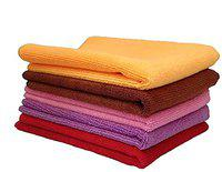 Kozdiko Microfiber Cleaning Cloth 350 GSM Universal for Car & Motorbike Pack of 5 (40 x 40 cm) for Home & Kitchen, Mobile, Laptop, Office