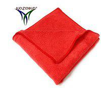 Kozdiko Microfiber Cleaning Cloth 350 GSM Universal for Car & Motorbike Pack of 1 (40 x 40 cm) for Home & Kitchen, Mobile, Laptop, Office
