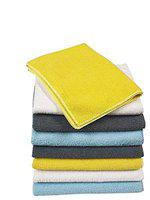 Kozdiko Microfiber Cleaning Cloth 350 GSM Universal for Car & Motorbike Pack of 8 (40 x 40 cm) for Home & Kitchen, Mobile, Laptop, Office