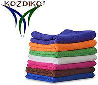 Kozdiko Microfiber Cleaning Cloth 350 GSM Universal for Car & Motorbike Pack of 7 (40 x 40 cm) for Home & Kitchen, Mobile, Laptop, Office