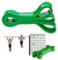 FASHNEX Resistance Bands, Pull Up Assist Exercise Band, Perfect for Mobility, Body Stretching, Powerlifting, Home Workout, Fitness Training Loop Bands for Men & Women (Green (50-125 LBS, X-Heavy))