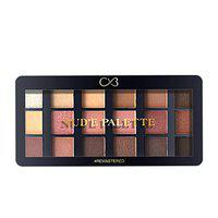 CVB ESP103 18 Colours Eyeshadow with 8 Buttery Mattes, 8 Metal Shadows, 1 Wet and Dry Lids, Talc-Free Nude and Rose Gold Palette for Eye Makeup (Multicolour, 24g)