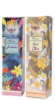 Liza Home and Office Air Freshener, Combo Jasmine and Floral Citrus (250 ml)