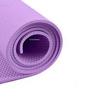 S N Enterprises Yoga Mat with Anti Skid Yoga mat for Gym Workout and Flooring Exercise Long Size Yoga Mat for Men and Women, Boys and Girls 4mm,6MM (Made in India) (PURPEL, 4 mm)