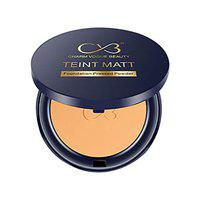 CVB C02 2 in 1 Teint Matt Foundation Pressed Compact Powder for Buildable Full Coverage & Matte Finish (04 Natural Nude, 10g)