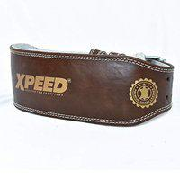 XPEED All Leather Veg-TAN Gym Belt for Power Weight Lifting (XP-1005)