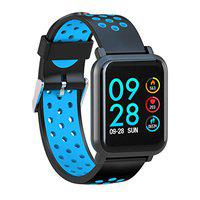 AQFIT W8 Smartwatch IP68 Waterproof Fitness Tracker | 1.33 Inch Full Touch Screen Display | Upto 10 Days Battery Life | 4.2 Bluetooth | for Men and Women(Blue Black)