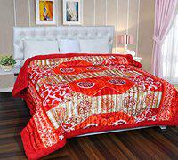 Home Solution Quilts for Double Bed, Warm Quilt for Winter, Winter Quilts for Double Bed (90 x 100 Inches) (Brown)