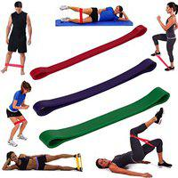 House of Quirk Pack of 3 Pull up Resistance Band Set, Mobility Bands, Long Resistance Bands, Chin up Assist Bands, Powerlifting Band for Resistance Training, Physical Therapy, Home Workouts - 3pcs