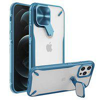 Nillkin Compatible for iPhone 12 Pro / 12 Case, Cyclops Case with 2-in-1 Camera Cover & Kickstand, PC & TPU Impact-Resistant Bumpers Protective Case for iPhone 12 Pro / 12 6.1 inch - Blue
