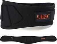 Aurion Weightlifting Belt, Olympic Lifting, Weight Belt, Weight Lifting Belt for Men and Women, 6 Inch, Back Support for Lifting (Red, Large) (Black, Medium)