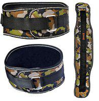 Aurion Body Squad Weight Lifting Belt Pro Quality Neoprene Back Support Belt with Speed Grip Strip Closure and Stainless Steel Hook and Loop Design - 6 Wide Soft Feel Padding (Camo Black, Large)