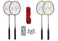WSG Shuttle Badminton Combo W111 (Red and Yellow)