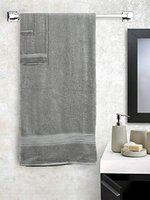 SWHF Chic Home Casual Bath,Hand and Washcloth Towel Set (Grey, Set of 3 Terry Towel)