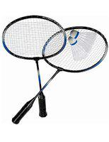 Badminton Rackets Set of 2 with 10 Shuttlecocks by Forever Online Shopping