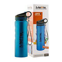 Mettle Stainless Steel Sipper Cap Water Bottle Leak-Proof Lid Keeps Water - 750ml, Blue
