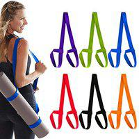 APRODO Yoga Mat & Foam Roller Carry Strap, Extra Long and Thick, Use Also Yoga Stretching Exercises, Free Size (RED, Pack of 4 PC)