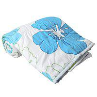 Delight Poly Cotton Soft and Light Weight Flower Printed Double Bed Dohar/AC Comforter, Blanket for Kids