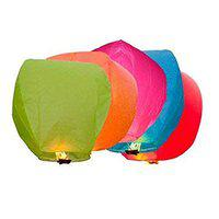 PRINT BHARAT Sky Lanterns Multicolour Wishing Hot Air Balloon/Flying Night Sky Candle for Diwali/Marriage/Christmas/Birthday/All Festival Multicolor (5)