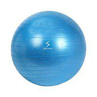 Spinway Anti Burst Gym Ball for Fitness and Excercise with air Pump, Size: 75cm (Blue)
