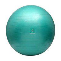 Spinway Anti Burst Gym Ball for Fitness and Excercise with air Pump, Size: 75cm (Green)