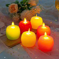 Auslese Realistic Swing Wave Multi Colour Flameless Flickering LED Electronic Candle Light for Home Decoration (4)