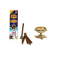 Utkarsh Combo of (10 Dry Dhoop Sticks Each Box) Scented/fragrances Dry Dhoop Batti Sticks with Kuber Pedi with Turtle Stand (00 Small Size) Diya