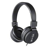 Enter Go Astra Foldable Wired 3.5mm Jack Over-Ear Stereo Headphone, Deep Bass with Mic, Headset with Adjustable Cushion, Universally Compatible