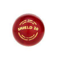SG Cricket Ball Shiled 20 White _Shiled 30 RED Cricket Ball (RED)