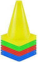 APG Field Agility Marker Cones 9 inch Used in Soccer, Cricket, Training in polyethylene (PE) Plastic for Sports Training, Traffic Cone, Dog Agility and Outdoor Agility Training (Made in India)