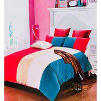 ShopyBucket Warm Velvet Touch Cotton Double Bed Sheet with Two Pillow Cover Size 230 x 250 cm