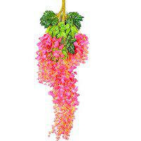 SIDDHIVINAYAK Wisteria Artificial Flowers Wisteria Set of 12 pcs. Used for Hanging as Decoration Purpose(Pink)