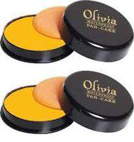 Olivia PAN-CAKE Water proof Makeup Factor Foundation Shade, Shade No.21 - Pack of 2