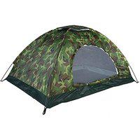 Saiyam 2/4 Person 180T Waterproof Polyester Military Picnic Camping Tent Portable Easy Setup Outdoor Tent (Army Green Camouflage Design) (2 Person Tent)