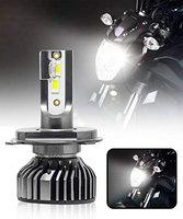 CARZEX Bike/Scooty LED Light MAX5 H4 Cree 25W Headlight Conversion Kit with Cooling Fan for All Bikes (1Pc)