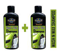 Amwax Car and Bike Wash n Wax Shampoo 250ml 2pcs
