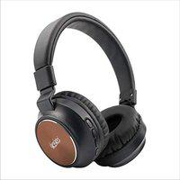 Kiko NS-3 NeerStorm Wireless Bluetooth Headphones with Hi-Fi Mic and 20 Hours Battery Life, Over Ear Headphones with Super Soft Cushions and Deep Bass & Aux Cable Supported (Black & Skin)