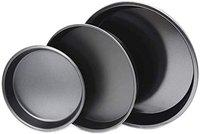 TAJ Non-Stick Pizza Pan for Baking, Perfect Results for Round Baking Tray 6,7, 8 (Set of 3)