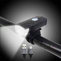 Gadget Deals USB Rechargeable Waterproof Cycle Light, High 300 Lumens Super Bright Headlight- Cycle Light for Bicycle