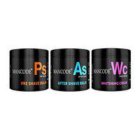 Mancode Grooming Essentials, Pre Shave Balm + After Shave Balm + Whitening Cream to give Luxury Grooming Experience, 100gram Each Balm & Cream formulated for Men by Mancode Combo of 3