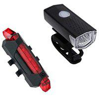 Gadget Deals Combo of Rechargeable Head Cycle Light and Cycle Tail Light Cycle Light for Bicycle