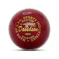 APG Davidson Leather Cricket Ball (Red)